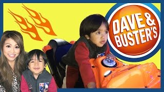 Family Fun Indoor Games and Activities for Kids Dave & Buster's Car Racing Surprise Toys