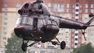 Вертоліт Мі-2 (RA-15768) МАРЗ (Чорне) запуск - злети-посадки