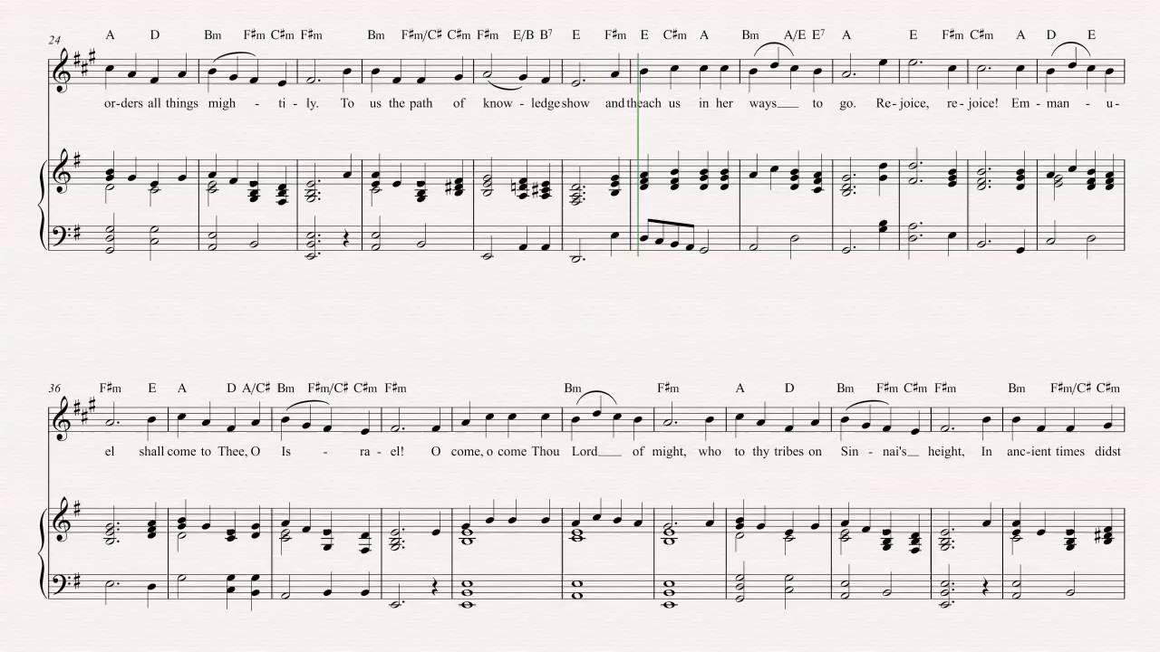 Tenor Sax O Come O Come Emmanuel Christmas Carol Sheet Music