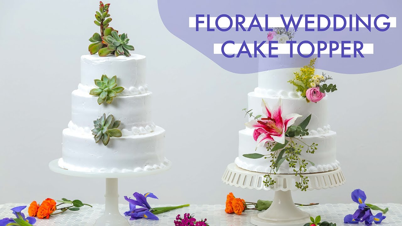 DIY Floral Wedding Cake Topper | Makeful - YouTube
