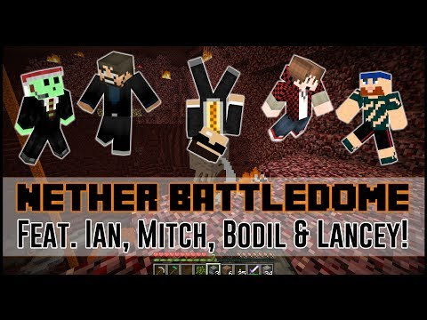 Minecraft: Battledome 5v5 w/Friends! - THE NETHER DOME?!