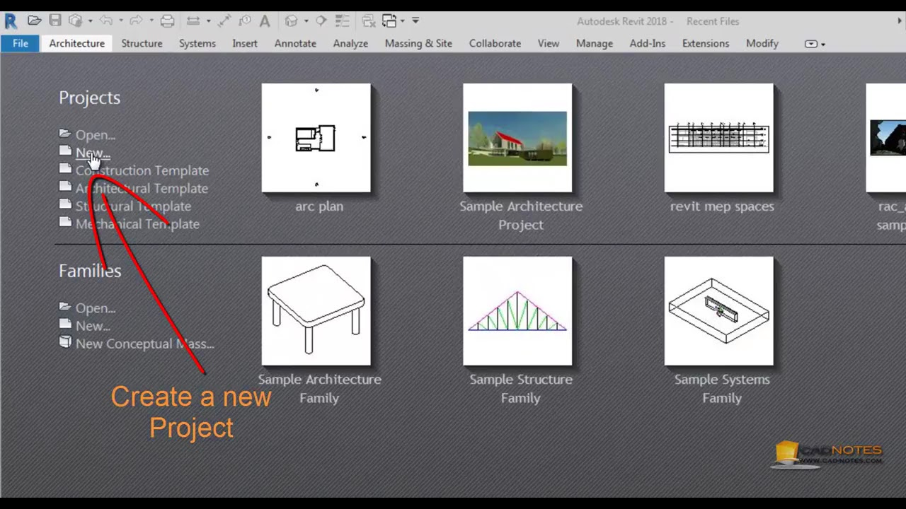 Revit MEP tutorial: Create a new project and link