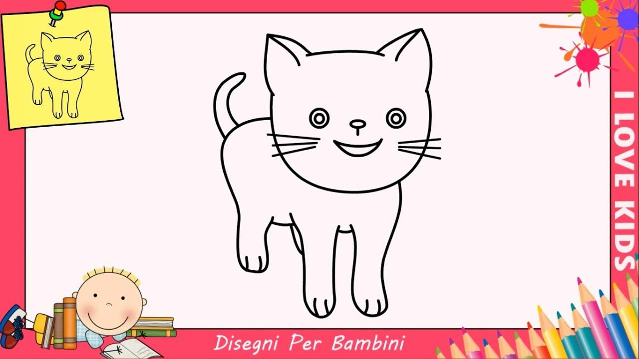 Come Disegnare Un Gatto Facile Passo Per Passo Per Bambini 4 Youtube