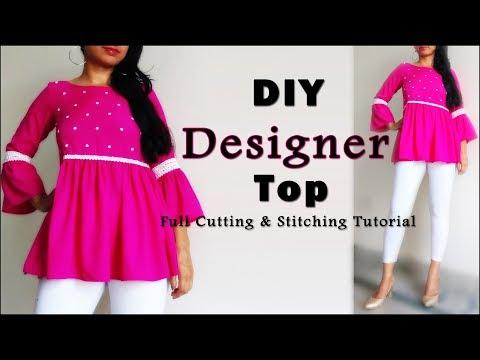 DIY Designer Top Cutting & Stitching | Latest Top Design