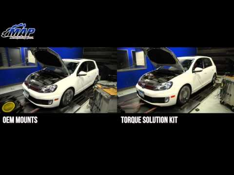 MK6 GTI Engine & Transmission Mount Kit | Before and After (2.0 TSI)