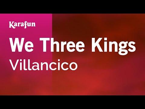 Karaoke We Three Kings - Christmas Carol *