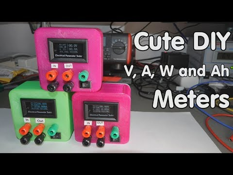 #197 Cute and versatile DIY Volt, Ampere, Power, efficiency and Capacity Meters