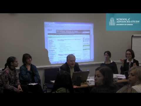 Institute of Germanic & Romance Studies - Research Training Workshops 2012-2013