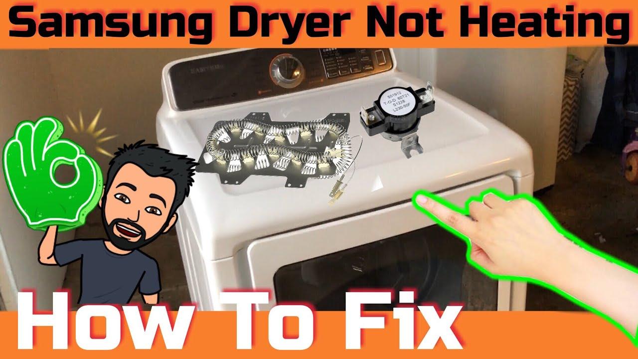 How to fix Samsung DV48H7400EW/A2 not heating problem