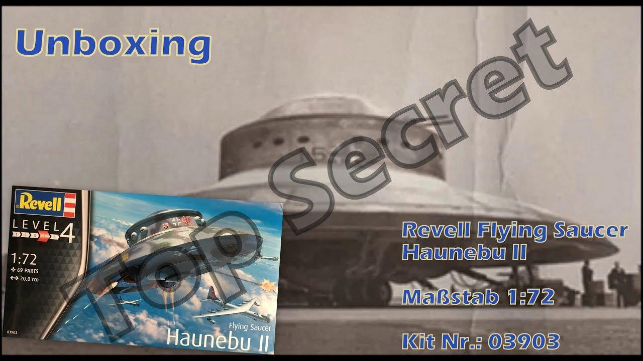 Unboxing Revell Flying Saucer Haunebu Ii 172 Kit Nr 03903 Youtube