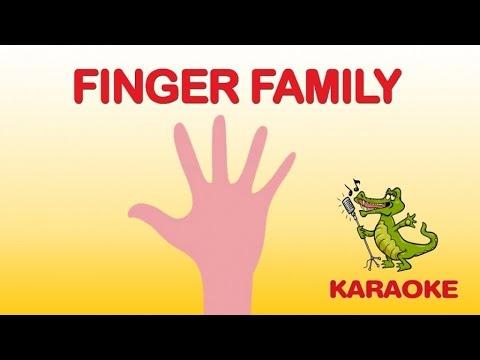 KIDS SINGING: THE FINGER FAMILY music and lyrics - Karaoke kids songs -