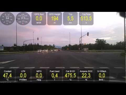 Test driving Opel Ampera with Torque data: 0-100km/h (62mph)