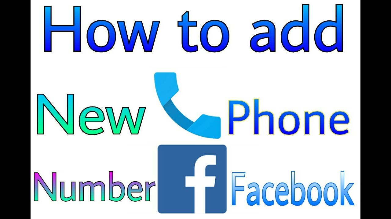 how to change phone number in facebook