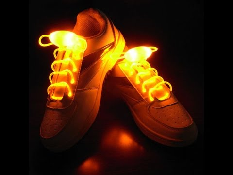 16388df76 🎃LED Shoe Laces Glow In The Dark Night Fancy Dress Party Clothing ...