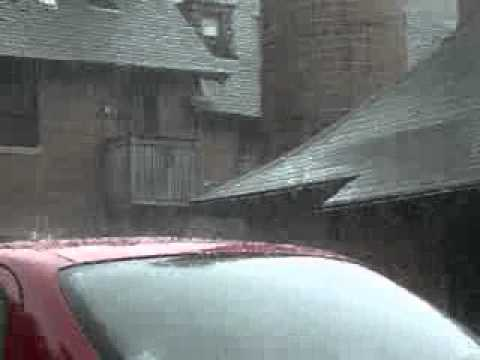Hailstorm in Toronto Canada at Bain coop