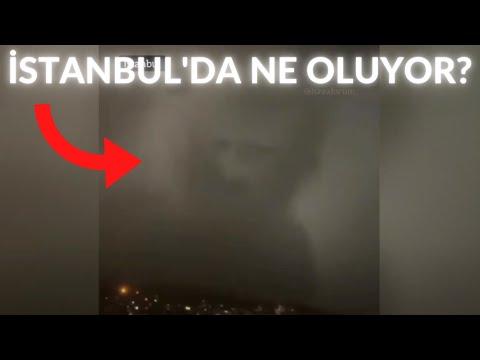İstanbul'da bugün yağan yağmurda ilginç bir görüntü ortaya çıktı! Yağmurda kızarmış yüz / Bulut
