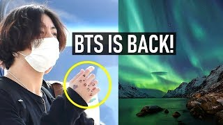 BTS IS BACK | Where are they going? Jungkook Tattoo meaning?  Where's Jin? #BTSisback