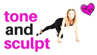 WORKOUT FOR WOMEN TO TONE YOUR WAIST, ABS, THIGHS & BOOTY - all are floor based home exercises  -