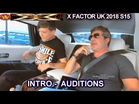 INTRO Simon picks Up Louis Tomlinson on His Way to AUDITIONS week 2 (Round 1) X Factor UK 2018
