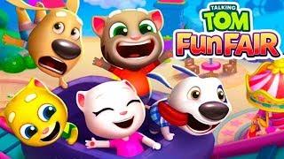 ГОВОРЯЩИЙ ТОМ ВЕСЕЛАЯ ЯРМАРКА #2 Анджела Хэнк Бен мультик игра видео для детей Talking Tom Fun Fair