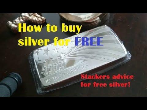 FREE SILVER BULLION - A silver stacker