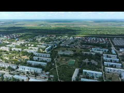Панорама города Нефтегорск Самарской области квадрик Hubsan Zino
