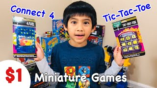 $1 Connect 4 and $1 Tic Tac Toe Miniature | Travel Games from Dollar Tree | $1 Toy Review - 🧠