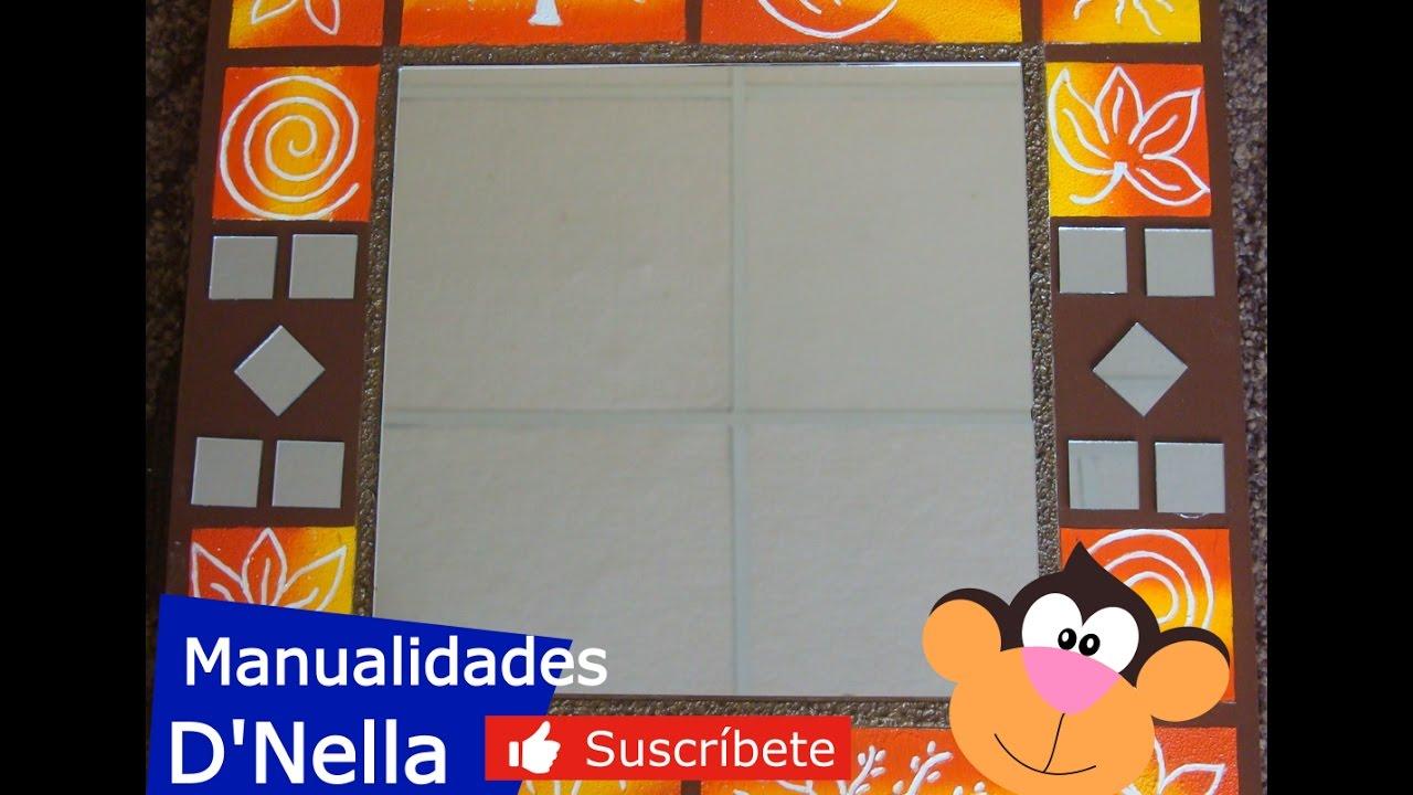 Manualidades: Espejo Con Textura De Trupan - By: \