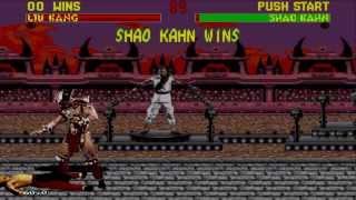 Mortal Kombat II Gameplay with Liu Kang (Sega Mega Drive/Genesis)