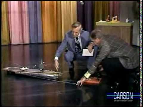 Aircraft Carrier Toy Crashes on Johnny Carson's Tonight ...