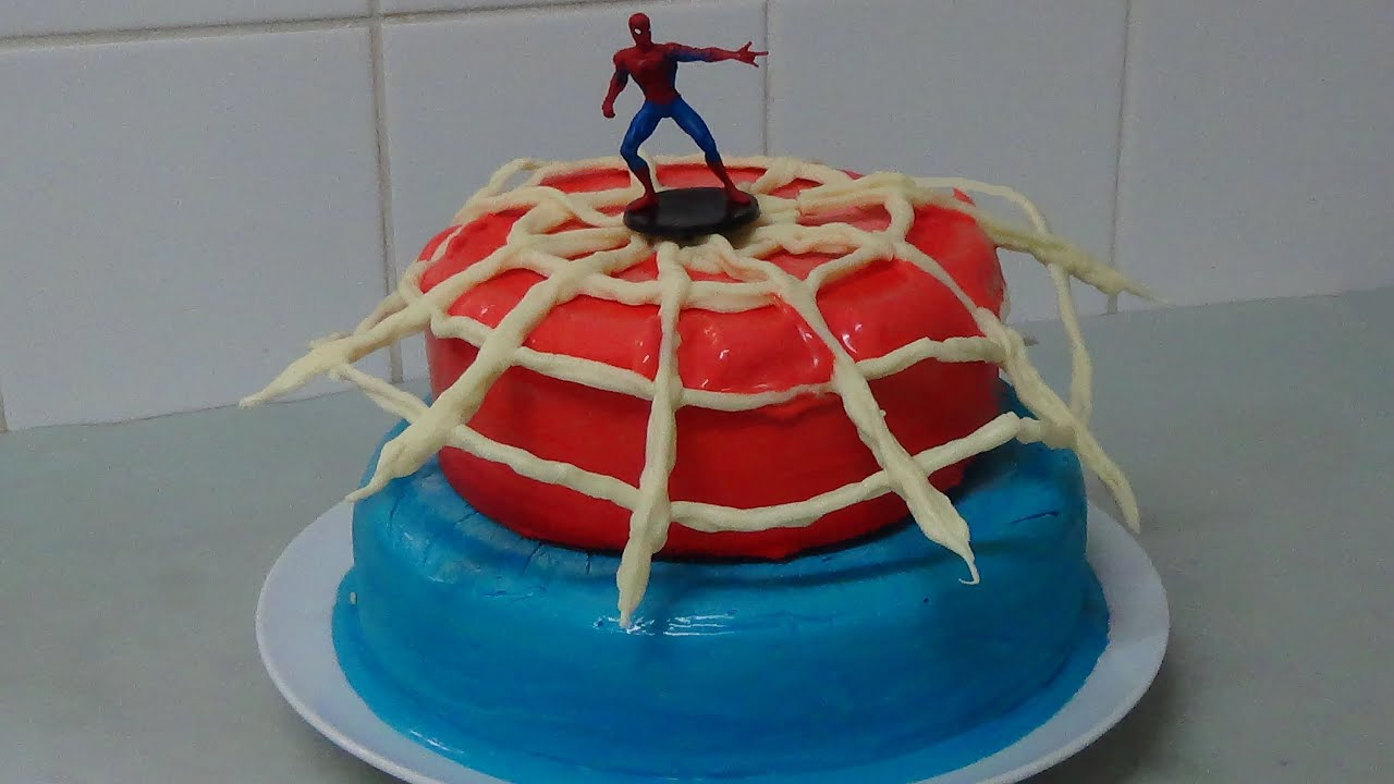 How To Make Spiderman Ice Cream Cake Youtube