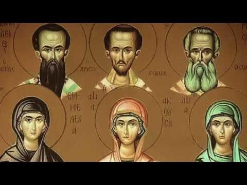 Три святителя. Святые женщины воспитывают святых мужей.
