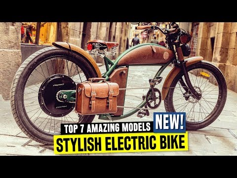 7 New Electric Bikes w/ Old School Designs and Retro Bicycle Accessories