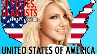 50 States, 50 Artists from United States Of America (  Female Version)