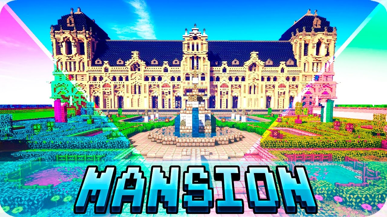 Minecraft Top 5 Best Mansion Houses In Minecraft Mansions With Interior Design Youtube