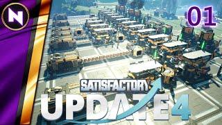 New & Effective Stąrt for Update 4   #1   Satisfactory Update 4   Lets Play/Walkthrough