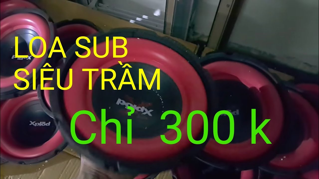 Loa sub bass siêu trầm 20 màu đỏ lại về hàng ship toàn quốc lh 0964867866