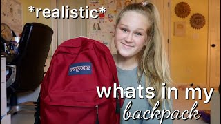 *realistic* WHATS IN MY BACKPACK - SOPHOMORE YEAR