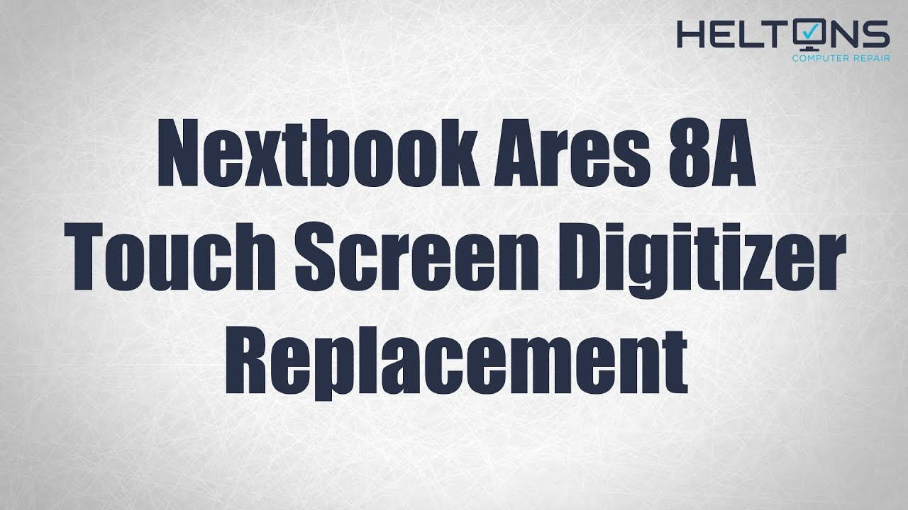 Nextbook Ares 8A Touch Screen Digitizer Replacement