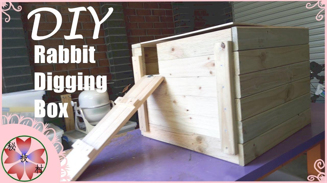 Diy Rabbit Digging Box Youtube