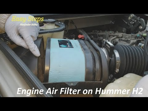 How To Install | Replace Engine Air Filter on Hummer H2