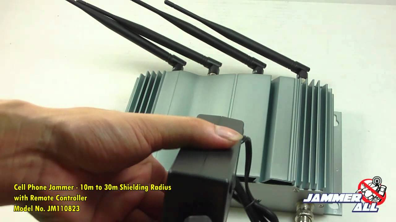 6 antenna gps cell phone rf signal jammer blocker | Cell Phone Jammer - 10m to 30m Shielding Radius - with Remote Controller