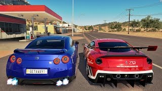 Nissan GT-R VS Ferrari 599XX - Forza Horizon 3 Online GoPro ‹ ZoiooGamer ›