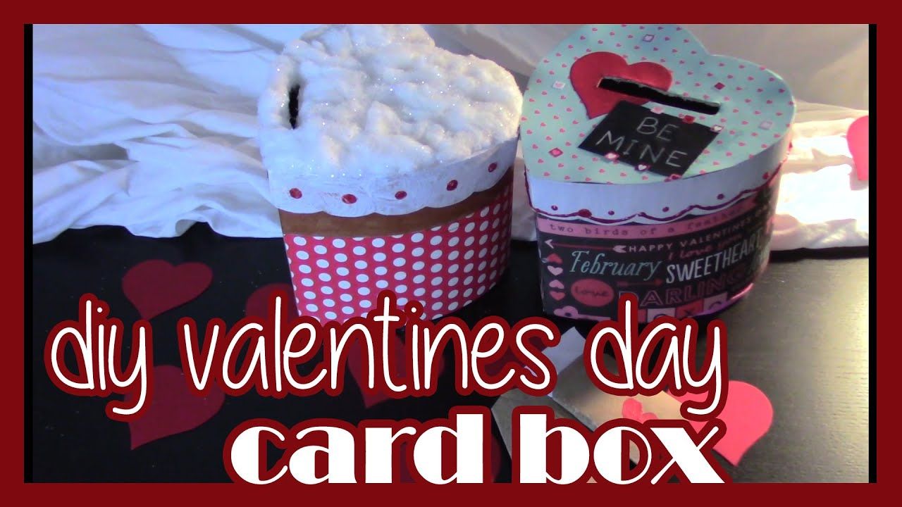 Lets Craft a DIY Valentines Day Card Box YouTube – Boxed Valentines Day Cards