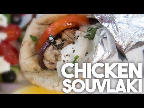 ���� Chicken SOUVLAKI | BIG FAT GREEK Sandwich | Kravings