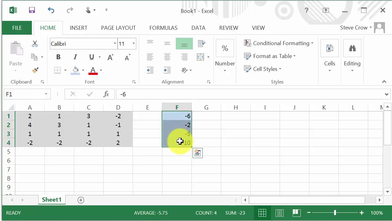how to solve equations in excel 2010
