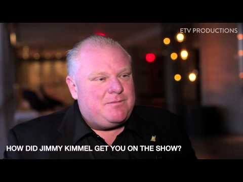 Rob Ford in L.A. Pre Jimmy Kimmel Interview