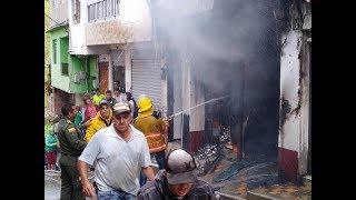 Solo pérdidas económicas dejó incendio en depósito de materiales