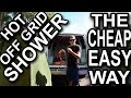 CHEAP EASY OFF GRID SHOWER SOLUTION VAN DWELLING CAMPING FISHING HUNTING SURFING HIKING PERFECT!