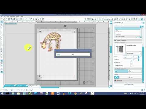 Trace & Print and Cut Tutorial Silhouette Studio Basics & Beyond #3